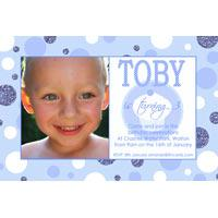 Birthday Invitations and Thank you Photo Cards for Boys BB07