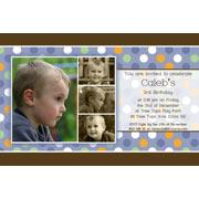 Birthday Invitations and Thank you Photo Cards for Boys BB08