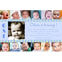 Birthday Invitations and Thank you Photo Cards for Boys BB10