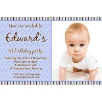 Birthday Invitations and Thank you Photo Cards for Boys BB11