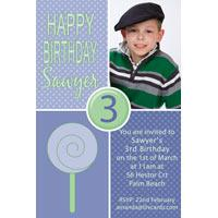 Birthday Invitations and Thank you Photo Cards for Boys BB12