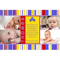 Birthday Invitations and Thank you Photo Cards for Boys BB13