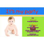 Birthday Invitations and Thank you Photo Cards for Boys BB14