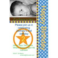 Birthday Invitations and Thank you Photo Cards for Boys BB15