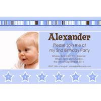 Birthday Invitations and Thank you Photo Cards for Boys BB16