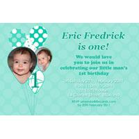Birthday Invitations and Thank you Photo Cards for Boys BB21