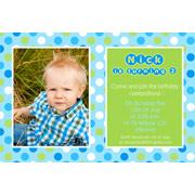 Boy Birthday Invitations and Thank You Photo Cards BB32-