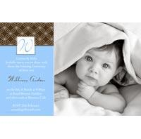 Baptism, Christening and Naming Day Invitations and Thank You Photo Cards for Boys - BC01