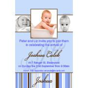 Baptism, Christening and Naming Day Invitations and Thank You Photo Cards for Boys - BC02