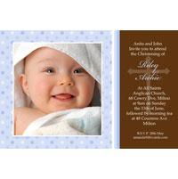 Baptism, Christening and Naming Day Invitations and Thank You Photo Cards for Boys - BC03