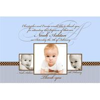 Baptism, Christening and Naming Day Invitations and Thank You Photo Cards for Boys - BC04