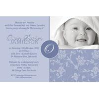 Baptism, Christening and Naming Day Invitations and Thank You Photo Cards for Boys - BC05