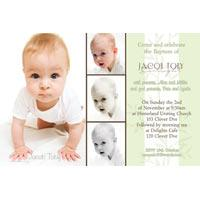 Baptism, Christening and Naming Day Invitations and Thank You Photo Cards for Boys - BC06