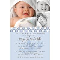 Baptism, Christening and Naming Day Invitations and Thank You Photo Cards for Boys - BC07