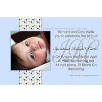 Baptism, Christening and Naming Day Invitations and Thank You Photo Cards for Boys - BC08