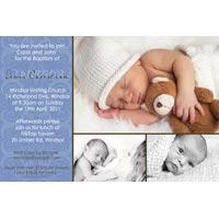 Baptism, Christening and Naming Day Invitations and Thank You Photo Cards for Boys - BC10