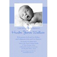 Baptism, Christening and Naming Day Invitations and Thank You Photo Cards for Boys - BC12