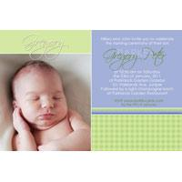 Baptism, Christening and Naming Day Invitations and Thank You Photo Cards for Boys - BC13