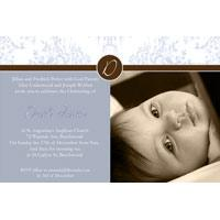 Baptism, Christening and Naming Day Invitations and Thank You Photo Cards for Boys - BC14