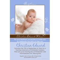 Baptism, Christening and Naming Day Invitations and Thank You Photo Cards for Boys - BC15