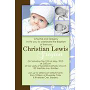 Boy Baptism, Christening and Naming Day Invitations and Thank You Photo Cards BC26-Photo cards, personalised photo cards, photocards, personalised photocards, personalised invitations, photo invitations, personalised photo invitations, invitation cards, invitation photo cards, photo invites, photocard birthday invites, photo card birth invites, personalised photo card birthday invitations, thank-you photo cards,