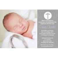 Boy Baptism, Christening and Naming Day Invitations and Thank You Photo Cards BC33-