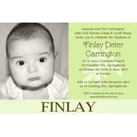Boy Baptism, Christening and Naming Day Invitations and Thank You Photo Cards BC40-