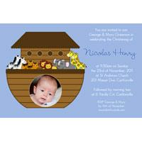 Boy Baptism, Christening and Naming Day Invitations and Thank You Photo Cards BC44-