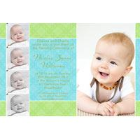 Boy Baptism, Christening and Naming Day Invitations and Thank You Photo Cards BC45-