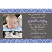 Boy Baptism, Christening and Naming Day Invitations and Thank You Photo Cards BC47-