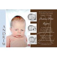 Boy Baptism, Christening and Naming Day Invitations and Thank You Photo Cards BC48-