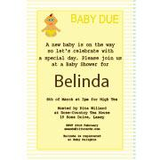 Baby Shower Photo Invitation - Baby Stripes in Lemon-Photo cards, photo card, invitation, invitations, photo invitations, photo invitation, baby shower invitation, baby shower photo invitation, baby shower invitaitons, baby shower photo invitations,
