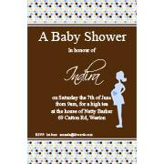 Baby Shower Photo Invitation - Bumpy Spots in Blue-Photo cards, photo card, invitation, invitations, photo invitations, photo invitation, baby shower invitation, baby shower photo invitation, baby shower invitaitons, baby shower photo invitations,