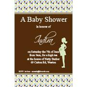 Baby Shower Photo Invitation - Bumpy Spots in Sage