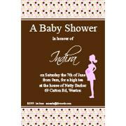 Baby Shower Photo Invitation - Bumpy Spots in Pink
