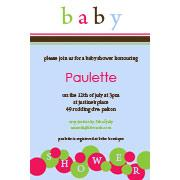 Baby Shower Photo Invitation - Baby Bubbles in Blue