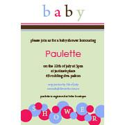 Baby Shower Photo Invitation - Sage Bubbles