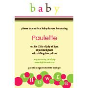 Baby Shower Photo Invitation - Lemon Bubbles