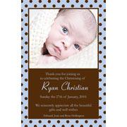 Baby, Birth, Baptism, Birthday Thank You Photo Cards for Boys BT02