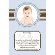 Baby, Birth, Baptism, Birthday Thank You Photo Cards for Boys BT03