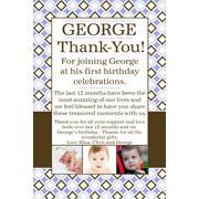 Boy Thank You Photo Cards for Baby, Baptism and Birthday BT13-Photo Cards, Photo invitations, Birth Announcements, Birth Announcement Cards, Christening Photo Invitations, Baptism Photo Invitations, Naming Day Photo Invitaitons, Birthday  Photo Invitations, Pregnancy Announcement Cards,Thankyou Photo Cards