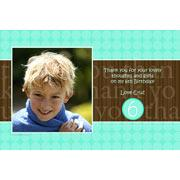 Boy Thank You Photo Cards for Baby, Baptism and Birthday BT14-Photo Cards, Photo invitations, Birth Announcements, Birth Announcement Cards, Christening Photo Invitations, Baptism Photo Invitations, Naming Day Photo Invitaitons, Birthday  Photo Invitations, Pregnancy Announcement Cards,Thankyou Photo Cards