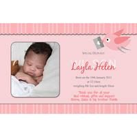 Birth Announcements and Baby Thank You Photo Cards for Girls - GA02