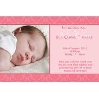 Birth Announcements and Baby Thank You Photo Cards for Girls - GA03