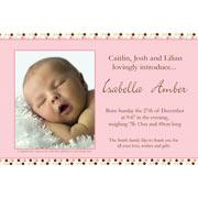 Birth Announcements and Baby Thank You Photo Cards for Girls - GA06