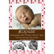 Birth Announcements and Baby Thank You Photo Cards for Girls - GA07