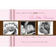 Birth Announcements and Baby Thank You Photo Cards for Girls - GA09