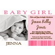 Birth Announcements and Baby Thank You Photo Cards for Girls - GA10