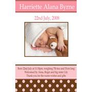 Birth Announcements and Baby Thank You Photo Cards for Girls - GA12