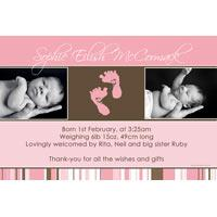 Birth Announcements and Baby Thank You Photo Cards for Girls - GA13
